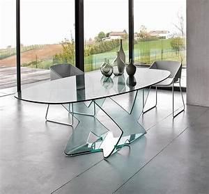 Glastische Für Wohnzimmer : esstisch in gebogenem glas f r moderne wohnzimmer idfdesign ~ Indierocktalk.com Haus und Dekorationen