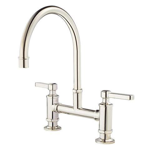 polished nickel kitchen faucets shop pfister port polished nickel 2 handle deck