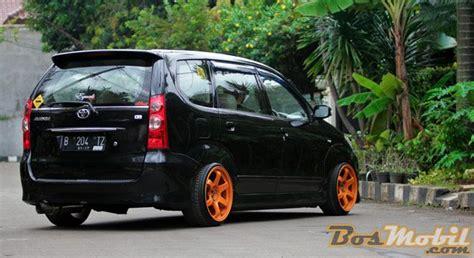 Cover Mobil Avanza Black modifikasi toyota avanza hitam velg orange modif mobil