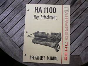 Gehl Ha1100 Hay Attachment Owners Operators Manual Guide