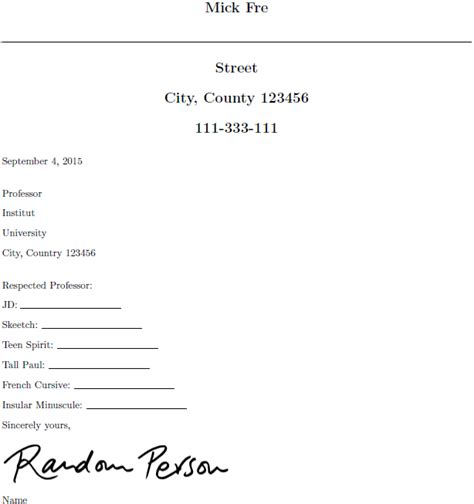 resume email address templates adjusting the signature between quot sincerely and