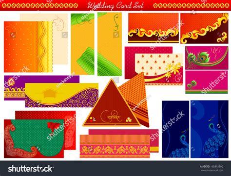 vector illustration  indian wedding invitation card