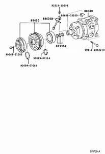 Toyota Corolla A  C Compressor Clutch  Clutch  Magnet  Cnd