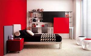 Dadka modern home decor and space saving furniture for for Black and red bedroom ideas