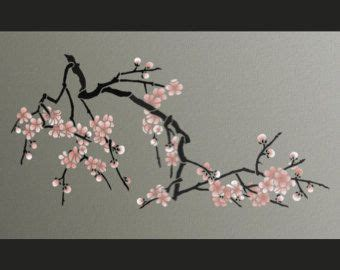 stencil magnolia flower branch large branch