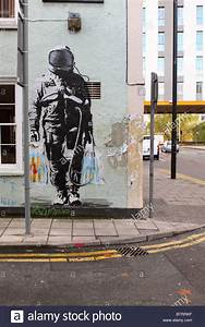 Spqr Urban Street Art Graffiti Spaceman With Supermarket ...