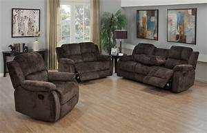 3 piece chocolate chenille reclining sofa loveseat and for 3 piece sectional sofa with recliner