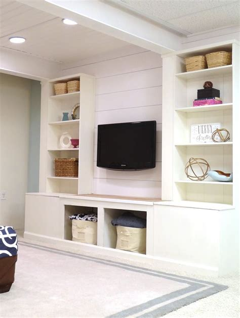 built in wall units ikea diy built in media wall unit with extra storage from an ikea bookcase remodelaholic ikea