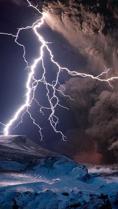 volcano eruption with lightning hd bing images