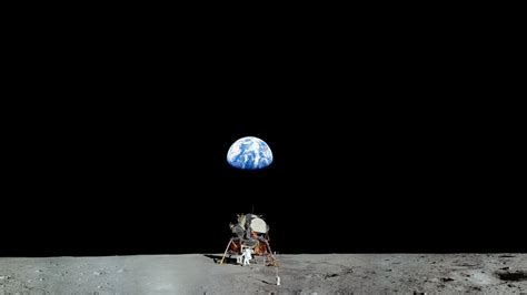 Earth Black Moon Landing Astronaut Planet Space Nasa