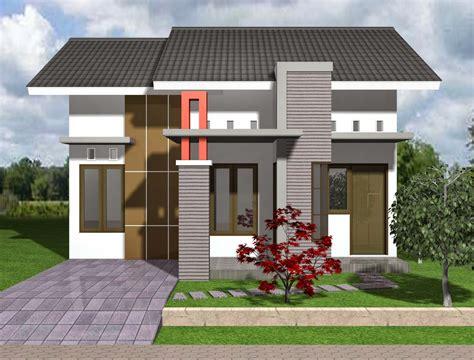 gambar denah rumah tipe  hook contoh