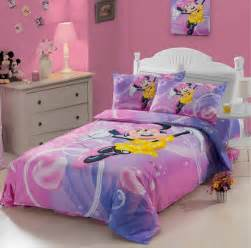 100 cotton kids cute cartoon minnie mouse pink duvet cover