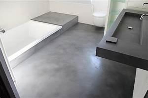 beton cire sur carrelage mural salle de bain maison With beton cire sur carrelage mural cuisine