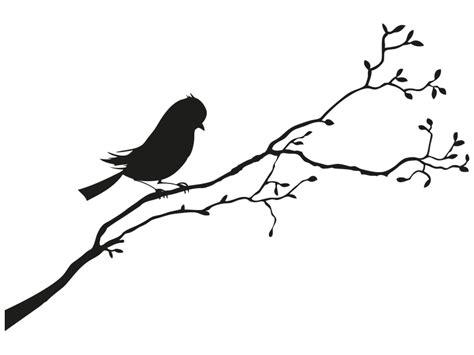 Le Aus Ast by Ast Mit Knospen Und Vogel Wandtattoo Als Wandtattoo Zweig