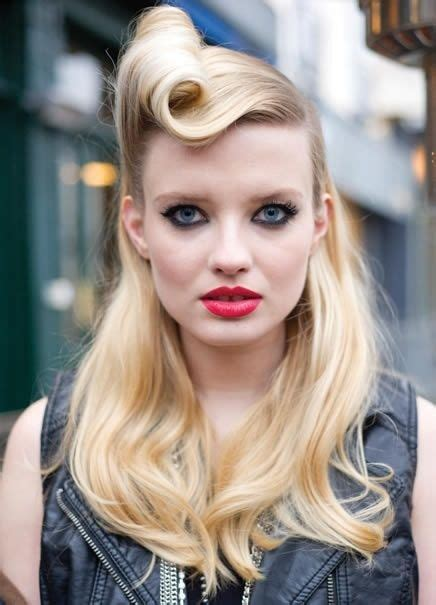 50s Roll Hairstyle by 50 S Rock Hair Styles Rockabilly