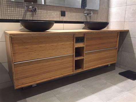 meuble bas cuisine peu profond meuble de salle de bain godmorgon en bambou massif