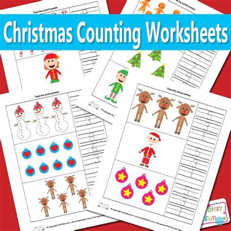 christmas counting worksheets math itsybitsyfuncom