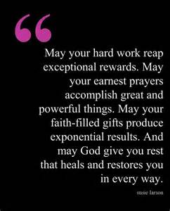 Hard Work Day Quotes Blessings