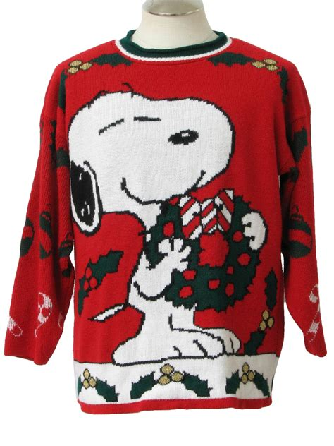 snoopy sweater 80 39 s vintage vintage snoopy sweater 80s