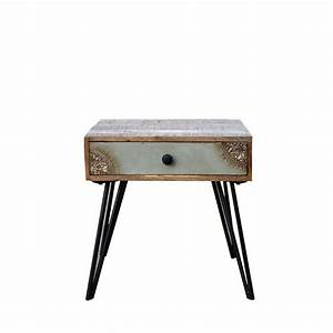 Table De Chevet Vintage En Bois Fusion By Drawer