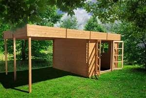 Abri De Jardin Avec Pergola : chalet de jardin en bois avec pergola ~ Dailycaller-alerts.com Idées de Décoration