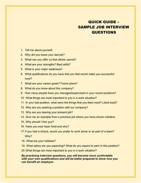 49 sle interview questions with practice sheets