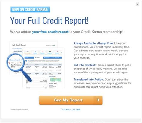 credit karma now gives users access to their transunion credit report updated weekly