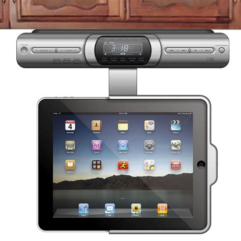 under cabinet radio cd player ipod dock under cabinet radio with ipod iphone dock mf cabinets