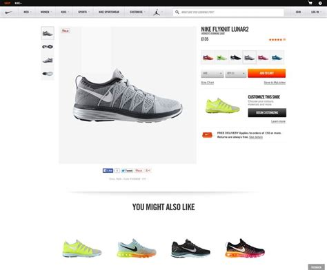 ecommerce web design nike product page design ecommerce web design premium