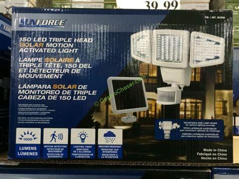 costco solar lights sunforce 150 led solar motion security light costcochaser