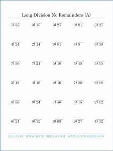 Math Worksheet For Grade 4 Division