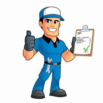 Maintenance Worker Utility Engineer Mechanic Vector Illustrations