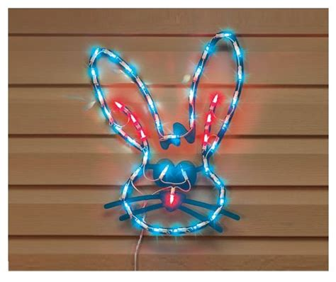 lighted bunny face easter window decoration new home