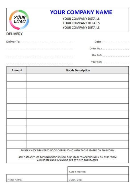 ncr delivery notes  column lined pads  sets