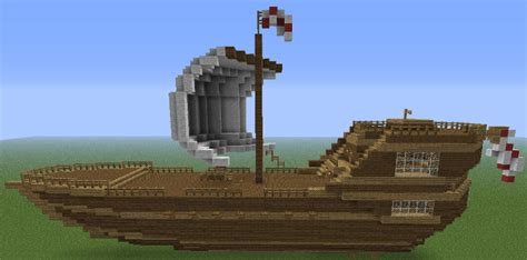 Minecraft Boat Hull by Large Ship Minecraft Project