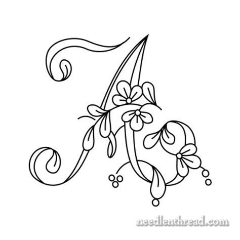 floral script monogram  embroidery   needlenthreadcom