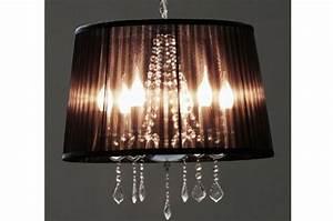 Lustre Suspension Design : lustre baroque cosy noir lustres suspensions pas cher ~ Teatrodelosmanantiales.com Idées de Décoration