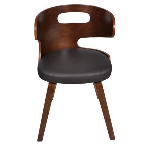chaise de salle a manger pas cher en belgique lot de 4 chaises de salle à manger en cuir mélangé brun achat vente chaise salle a manger pas