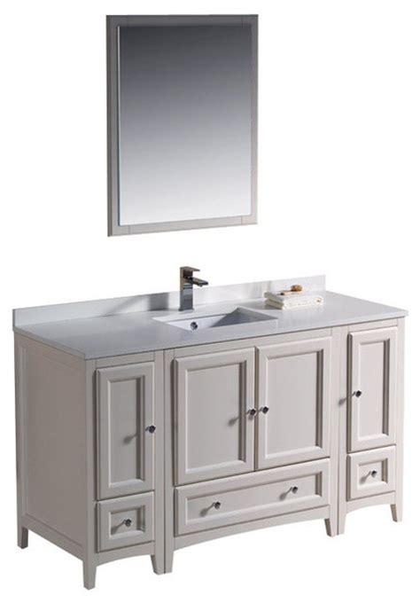 54 inch bathroom vanity single sink 54 inch single sink bathroom vanity in antique white