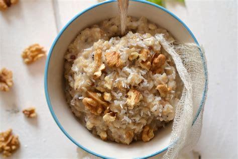 comment cuisiner le d avoine porridge végétal aux flocons d 39 avoine noix et coco les
