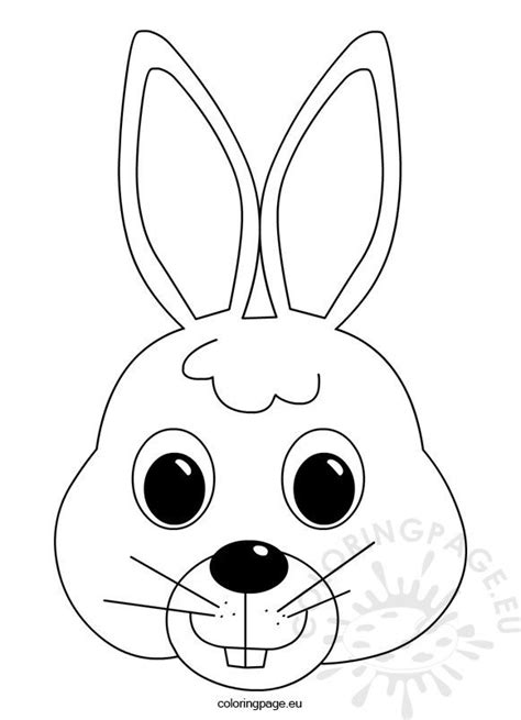 easter bunny face coloring page coloring page