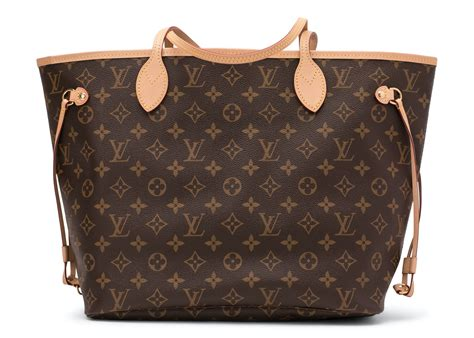 louis vuitton neverfull monogram  pouch mm beige lining