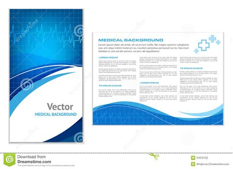 16 Blank Tri Folder Brochures Psd Vector Eps Jpg Blue Abstract Background Stock Vector Image