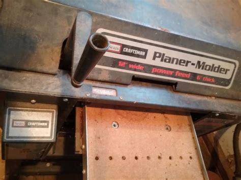 craftsman planer molder espotted