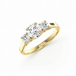 exquisite three stone diamond engagement ring in 14k white With 3 stone diamond wedding rings