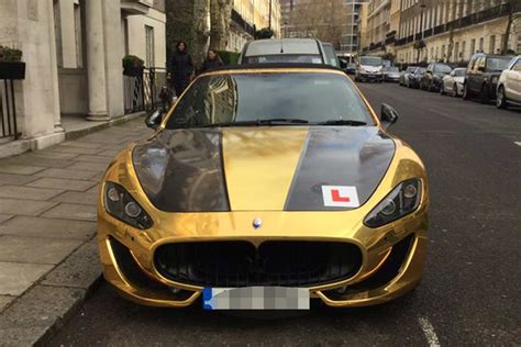 gold maserati gold maserati worth 90k spotted in london complete