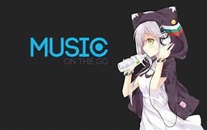 Anime, Music, Girl, With, Headphones, Wallpaper, Dd