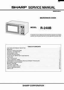 Sharp R240b Service Manual Download  Schematics  Eeprom