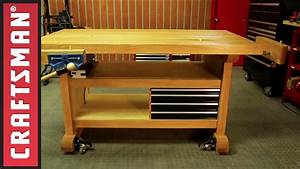 How to Build a Workbench for Your Garage Craftsman - YouTube
