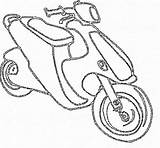 Scooter Pages Coloring Scooters Pro Template sketch template